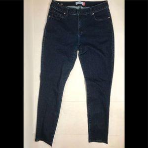 🆕 CAbi Curvy Skinny Dark Wash Sz 12 Jeans